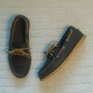 Sperry Brown Leather Top-sider Loafer Size 8